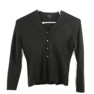 Brooks Brothers Cardigan M Extra Fine Merino Wool